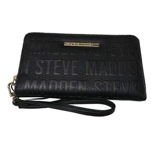 Black and Silver Steve Madden Wallet